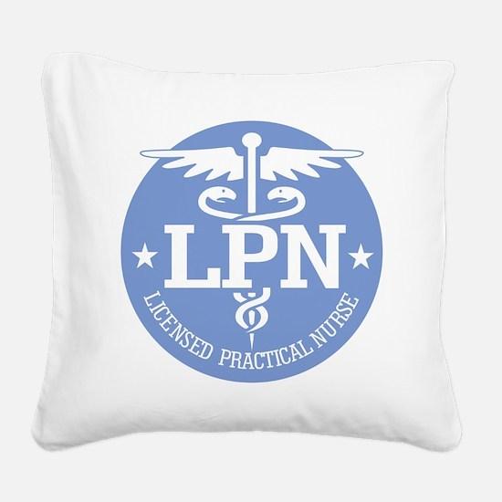 Caduceus LPN Square Canvas Pillow
