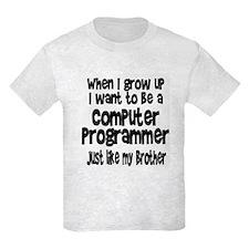 WIGU Computer Programmer Brother T-Shirt