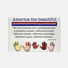 America the Beautiful Rectangle Magnet