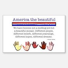 America the Beautiful Rectangle Decal