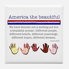 America the Beautiful Tile Coaster