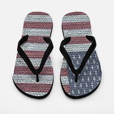 Bubblewrap American Flag DEB Flip Flops