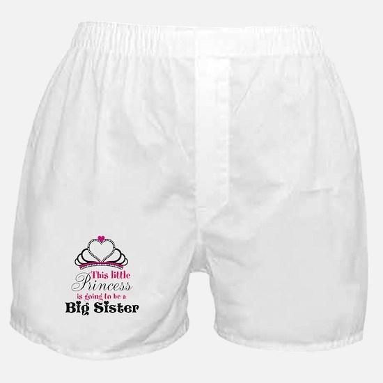 Big Sister to be Princess Boxer Shorts