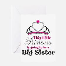 Big Sister to be Princess Greeting Cards