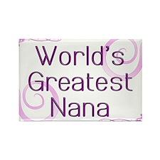 World's Greatest Nana Rectangle Magnet