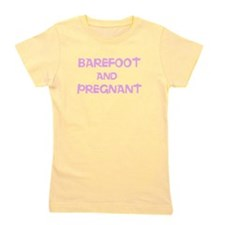 Barefoot and Pregnant Girl's Tee