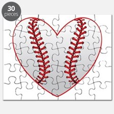 Cute Baseball Heart Puzzle