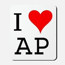 I Love AP Mousepad
