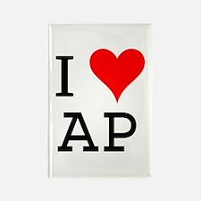 I Love AP Rectangle Magnet