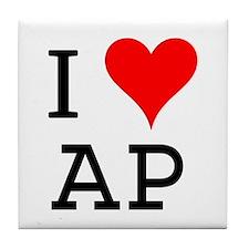 I Love AP Tile Coaster