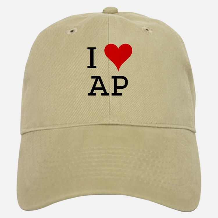 I Love AP Baseball Baseball Cap