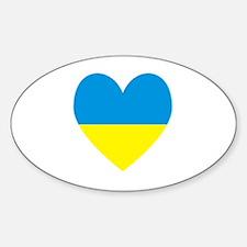 Ukrainian Flag Heart Decal