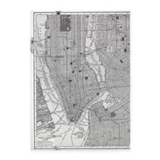Vintage Map of Manhattan NYC 5'x7'Area Rug