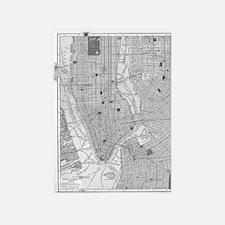 Vintage Map of Manhattan NYC 5'x7'Area Rug