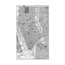 Vintage Map of Manhattan NYC Decal