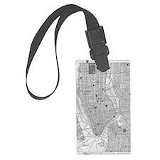 Vintage Map of Manhattan NYC Luggage Tag