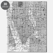 Vintage Map of Manhattan NYC Puzzle