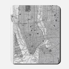 Vintage Map of Manhattan NYC Mousepad