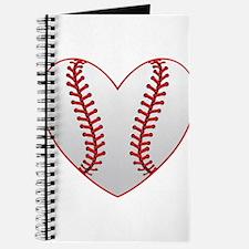 cute Baseball Heart Journal
