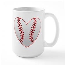 cute Baseball Heart Mugs