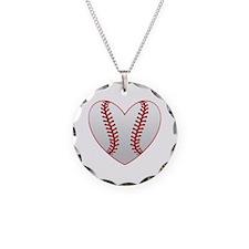 Cute Baseball Heart Necklace