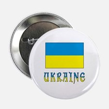 "Ukrainian Flag and Ukraine 2.25"" Button"