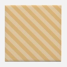Desert Colored Stripes Tile Coaster