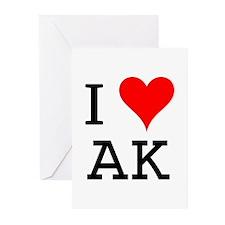 I Love AK Greeting Cards (Pk of 10)