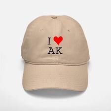 I Love AK Baseball Baseball Cap