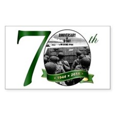 D-Day: The 70th Sticker (rectangle 10 Pk)