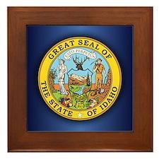 Idaho Seal.png Framed Tile