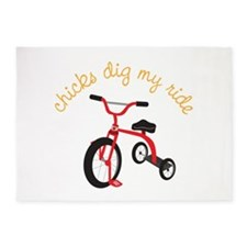chicks dig my ride 5'x7'Area Rug