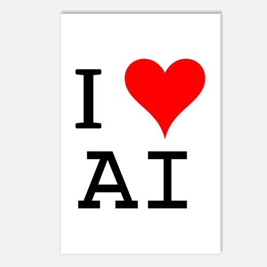 I Love AI Postcards (Package of 8)