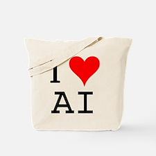 I Love AI Tote Bag