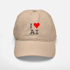 I Love AI Baseball Baseball Cap