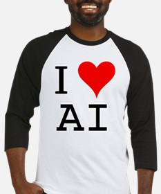 I Love AI Baseball Jersey