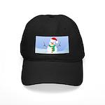 Santa Snowman Baseball Hat