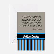Retired Teacher Journal 3 Greeting Cards