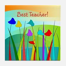 Best Teacher 1 Tile Coaster