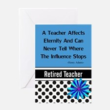 Retired Teacher Journal 2 Greeting Cards