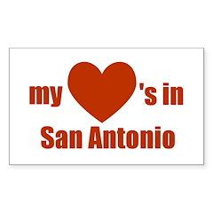 San Antonio Rectangle Decal
