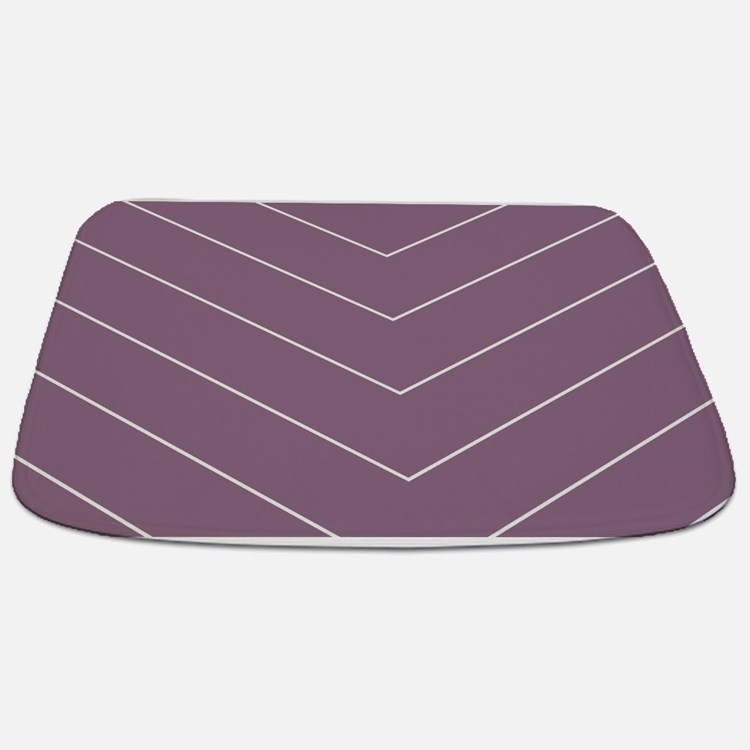 Purple Chevron Large bm Bathmat