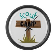 Scout CAMP Large Wall Clock
