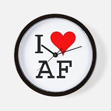 I Love AF Wall Clock
