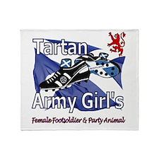 Tartan Army Girls Scotland Throw Blanket