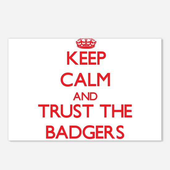Keep calm and Trust the Badgers Postcards (Package