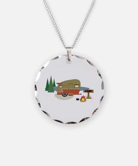 Camping Trailer Necklace