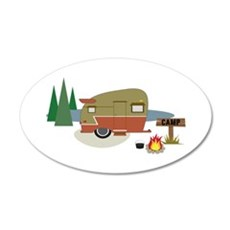Camping Trailer Wall Decal