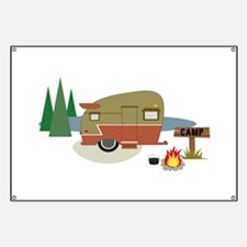 Camping Trailer Banner