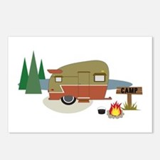 Camping Trailer Postcards (Package of 8)